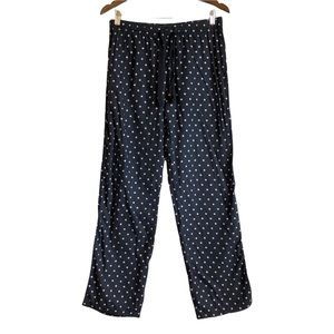 *3/$25* VICTORIAS SECRET Soft Polka Dot Sleep Pajama Pj Bottoms Pants Blue